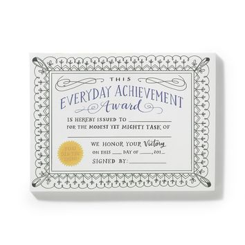 Fill-in Achievement Certificates Notepad