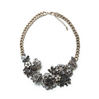 MULTI-FLOWER CRYSTAL NECKLACE