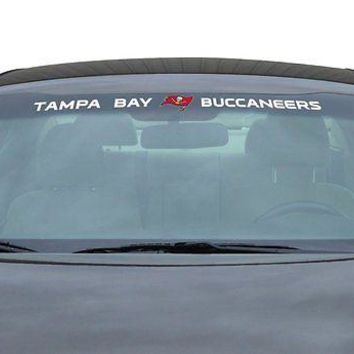 Tampa Bay Buccaneers NFL Licensed Auto Car Truck Windshield Decal