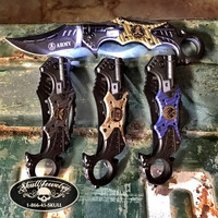 4 BRANCHES OF THE MILITARY Knife w/LED Light