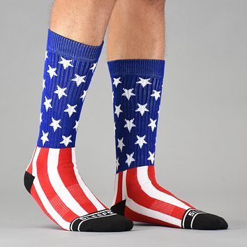 USA America Flag soft Socks