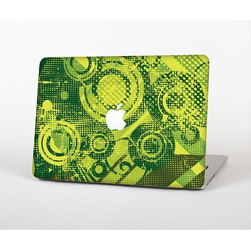 The Grungy Green Messy Pattern V2 Skin for the Apple MacBook Air 13""