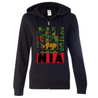 Original Camo Retro Bold Ladies Zip-Up Hoodie