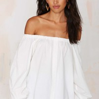 Clara Off-the-Shoulder Top - White