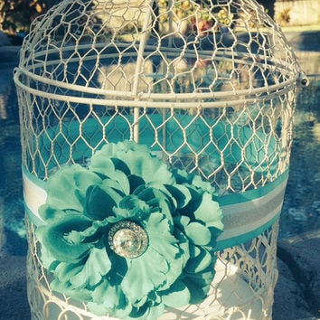 Beautiful Wedding Birdcage Card holder, Shabby Chic