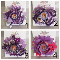 Disney Vacation Purple pink Sofia the First bow Sofia the First hair clip Sofia the First birthday sophia the 1st inspired disney Princess