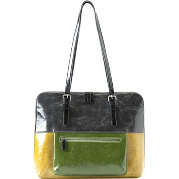 Shiraleah Harper Brief Vegan Bag in Multi-Citrus Color.
