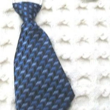 "Dark Blue Argyle Necktie 7"" Keychain -Blue Diamonds Neck tie Keychain-Brand New!"