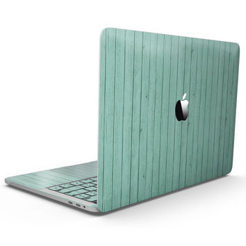 The Mint Green Wood Planks  - MacBook Pro with Touch Bar Skin Kit