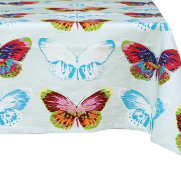 "2 Butterfly Tablecloths - 54 ""  Square"