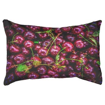 Cherries Small Dog Bed