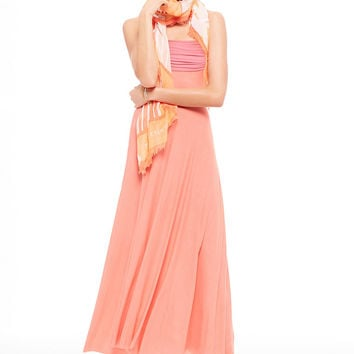 Foldover Multi-way Maxi Dress
