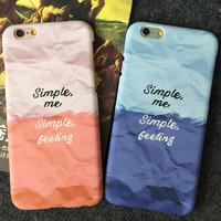 Original SIMPLE ME iPhone 5s 5se 6 6s Plus Case Best Solid Cover + Gift Box 403
