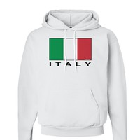 Italian Flag - Italy Text Hoodie Sweatshirt  by TooLoud