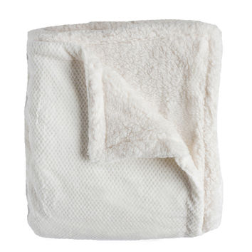 Andrea Twin-size Cream Super Soft Melange Waffle Throw