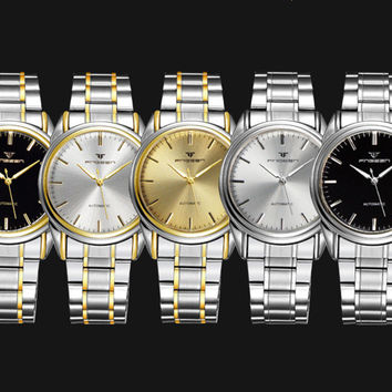 Automatic two tone dress watch with date
