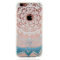 Newest Customized Blue White Lace Case Cover for iPhone 7 7 Plus & iPhone 5s se & iPhone 6 6s Plus + Gift Box-462