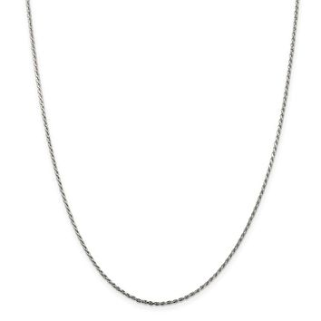 925 Sterling Silver 1.5mm Diamond-cut Rope Chain Necklace, Bracelet or Anklet