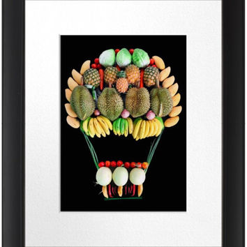 Fruit Art Design for Playroom or Kids' Room