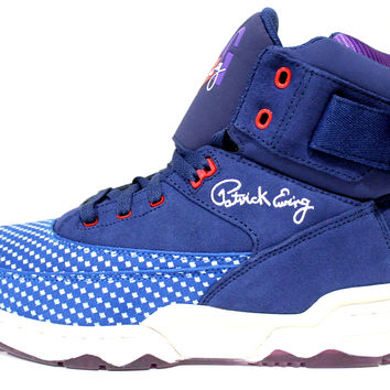 Ewing Men's 33 HI All Star Blue White Basketball Shoes ewing093
