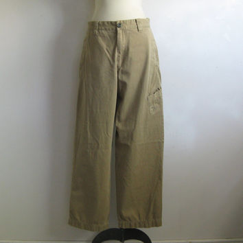 Timberland Kkaki Pants Vintage 1990s Brown Mens Casual Cotton Pants 32W Outdoor Gear Bottoms