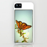 Monarch Flower iPhone & iPod Case by RichCaspian