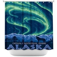 DiaNoche Designs Shower Curtains By Lantern Press Denali National Park Alaska I Bathroom Accessories