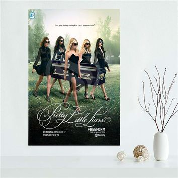 YJW523-L41 Custom Pretty Little Liars Season Canvas Painting Wall Silk Poster cloth print DIY Fabric Poster FF-35