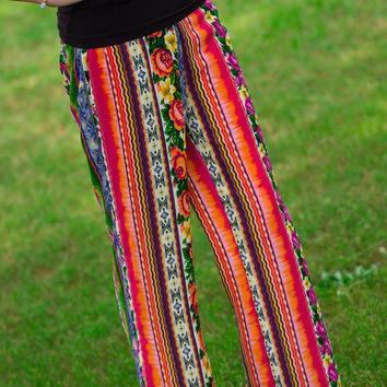SALE-Add A Twist To The Garden Pants-Multi