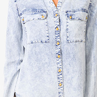 Mineral Wash Studded Shirt