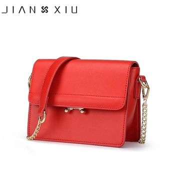 JIANXIU Women Messenger Bags Split Leather Bag Bolsa Bolsos Mujer Sac Tassen Bolsas Feminina Shoulder Crossbody Chain Small Bag
