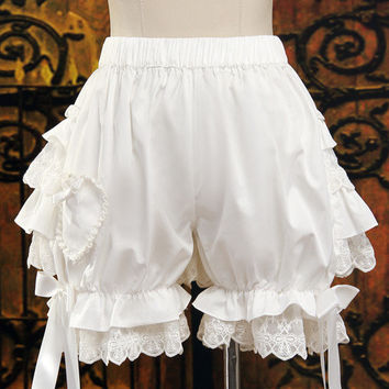 Thigh High White Bloomer Shorts