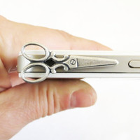 Scissor iPhone & Cell Phone Dust Plug Universal by bellamantra