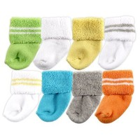 Luvable Friends 8 Pack Newborn Socks | Affordable Infant Clothing
