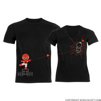 Captured by Your Love™ His & Hers Matching Couple Shirts Black