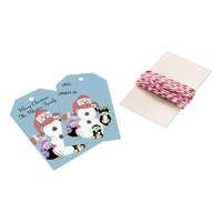 Snowman and Penguins Christmas Gift Tags