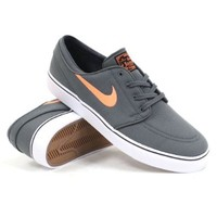 Nike SB Zoom Stefan Janoski CNVS Men US 11.5 Gray Skate Shoe