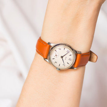 Women's wristwatch ZIM, tomboy watch classic, mechanical watch, boyfriend's watch retro, minimalist women watch, premium leather strap new
