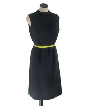 Vintage Mod Style Little Black Dress Mad Men Sheath Dress, Retro Rockabilly, Pin Up