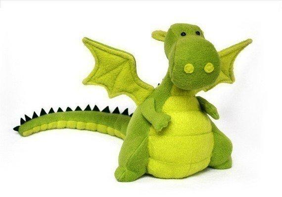 Yoki The Fat Dragon Sewing Pattern PDF by DIYFluffies on Etsy
