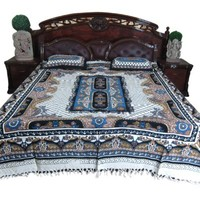 Indi Boho Tapestry Bedding Bedspreads Blanket Throw Bed Cover 3pc Cotton