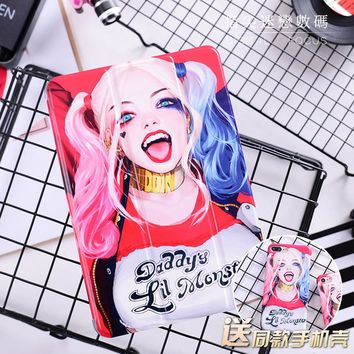 """Cute Little Monster Flip Cover For iPad Pro 9.7"""" Air Air2 Mini 1 2 3 4 Tablet Case Protective Shell For New iPad 9.7 2017"""