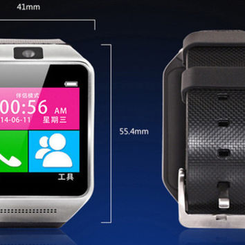 Free DHL Smart Watch phone SIM Card Pedometer GV08 SmartWatch Sync Call SMS Anti-lost for Android Men Women
