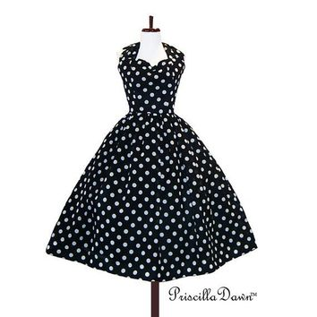 Custom in your size Polkadot Rockabilly Dress by priscilladawn