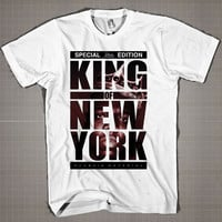 King Of New York Classic Material  Mens and Women T-Shirt Available Color Black And White
