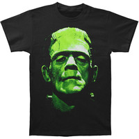 Frankenstein Men's  Face T-shirt Black Rockabilia