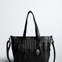 Studded Satchel Handbag