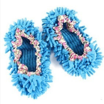 2 PCS Lazy Dust Cleaner Floor Cleaning Shoes Mop House Clean Shoe Cover Floor Dust Cleaning Shoes