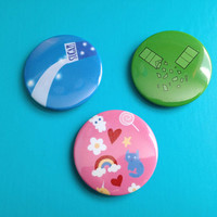 Sugar Spice and Everything Nice Powerpuff Girls Pinback Buttons