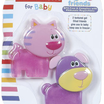 Baby Gel Teether Friends- 2 pack Case Pack 6